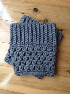 Custom Crochet Boot Cuffs - Color: Heather Gray on Etsy, $12.00