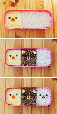 Rilakkuma Kyaraben Recipe! Check out our blog http://www.kawaiikakkoiisugoi.com    #DIY #tutorial #kawaii #bento #kyaraben