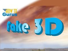 How to Make Fake 3D Text in Adobe Photoshop Elements 15 14 13 12 11 Tutorial