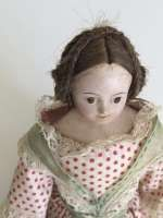 Very Rare small French Papier-mache doll house doll ca 1840