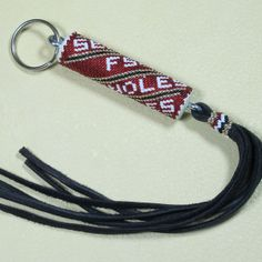 Seminoles Beaded Key Chain Native American Beadwork