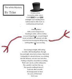 snowman shape poem