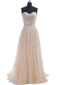 2014 cheap plus size modest Champagne Prom Dresses sequins sweeheart zipper or lace up Long Evening Part dress custom made