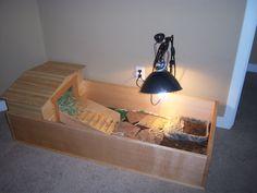 Our tortoise habitat. I had this built for the little guy  http://littlebrags.blogspot.com