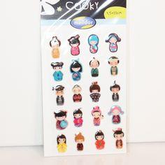 Sticker Cooky china Mädchen/Puppen von Papiervogel auf Etsy