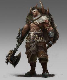 Definitely some half-orc in him. ArtStation - Savages, hongyang bao