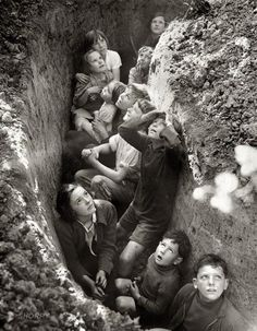 The Wait: Air Raid Shelter, England c. 1941 (via)