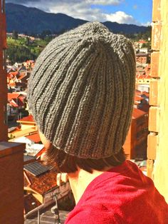 Apparel | gray ribbed hat knitted