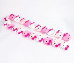 Hello Kitty Kids Plush Scarf: Pink and White