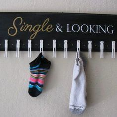 cute idea for unmatched socks #HomeAndGarden