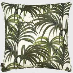 House Of Hackney Palmeral Pillow White Green