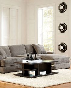 from macys, love the couch with chaise, love the color!