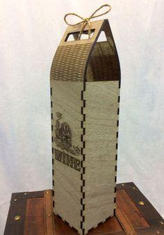 Bolsa en forma de alcohol regalo estuche de corte de por projectCNC