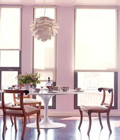 Here's our Pink Dining Room Chairs collection at http://jamarmy.com/pink-dining-room-chairs.html
