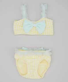 Look at this Yellow Houndstooth Chloe Bikini - Infant, Toddler