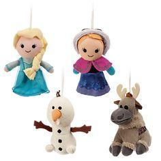 Frozen Plush Ornament Set