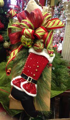 #Christmas Santa Stocking Teardrop.