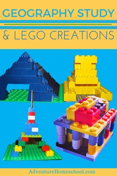 Geography Study and LEGO - free resources and ideas for some hands on learning fun! Homeschool should be memorable and delightful after all . Geography Activities, Geography For Kids, Lego Activities, Lego Projects, School Projects, Used Legos, Lego Challenge, Lego Club, Classroom Fun