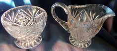 Beautiful Cut Leaded Crystal Sugar and Creamer Set by HeronBlueVintage on Etsy