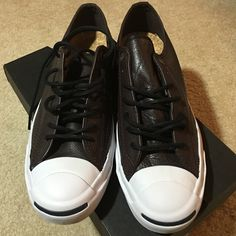 Converse leather jp jack ox burn limited edition Converse leather jp jack ox burn limited edition. Men 9 women 10.5 unisex. Leather. Brand new Converse Shoes Sneakers