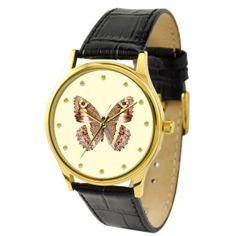 Butterfly Watch Brown 1 by SandMwatch on Etsy,