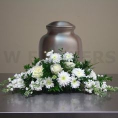 Funeral Flower Arrangements for Urns patriotic | Flowers product: Sincerity Urn Flower Arrangement