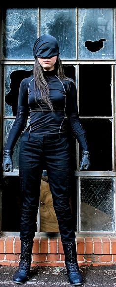 Female daredevil cosplay (from the Netflix series)