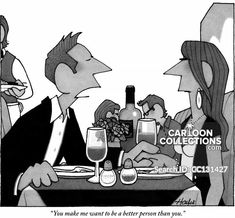 Publication: New YorkerImage Type: CartoonDate: October You make me want to be a better person than you.Description: Man speaks to. Relationship Problems, The New Yorker, You Make Me, Be A Better Person, Dating, My Style, Funny, Fictional Characters, Cartoons