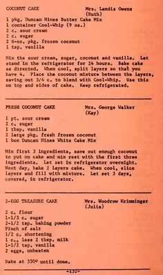 Retro Recipes, Old Recipes, Vintage Recipes, Cookbook Recipes, Cooking Recipes, Pound Cake Recipes, Cupcake Recipes, Cupcake Cakes, Dessert Recipes