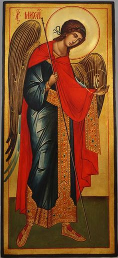 High quality hand-painted Orthodox icon of St Archangel Michael (full body). BlessedMart offers Religious icons in old Byzantine, Greek, Russian and Catholic style.