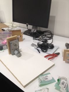 Plastic recycler for the 3-D printer... under way... go Olivia and Marc!