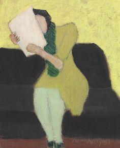 thunderstruck9:  Milton Avery (American, 1885-1965), Seated Figure, 1957. Oil on canvasboard, 10 x 8 in.