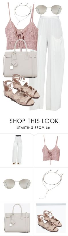 """Untitled #19826"" by florencia95 ❤ liked on Polyvore featuring Alice + Olivia, Jens Pirate Booty, Forever 21, Yves Saint Laurent and Zara"