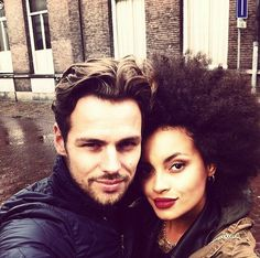 Relationship goals tbh- but more importantly, her hair and lipstick are life goals.