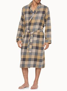 Checkered chalet robe | Simons