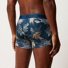 Blue floral print hipsters pack - hipsters - underwear - men Sous-vêtements  Homme, 87ddea7c134