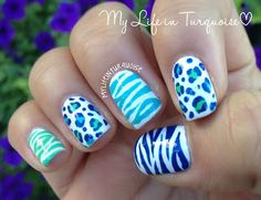 Tri Polish Challenge - july #3 - Zebra & Leopard Print