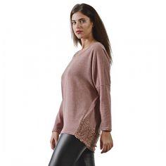 Μπλούζα από πλετκό ύφασμα (5464) Plus Size Blouses, Turtle Neck, Sweaters, Fashion, Moda, Fashion Styles, Sweater, Fashion Illustrations, Sweatshirts