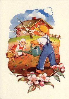 Martta Wendelin - mimo - Picasa Albums Web Carl Larsson, Martini, Frost, Illustration, Elsa, December, Spring, Vintage, Farmer