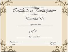 Blank award certificate templates participation cookie business certificate certificate of participation business theme certificatestreet yadclub Gallery