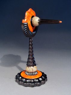 A Parlor Top by Jon Sauer. Amboyna Burl, Spinning Top, Wood Turning Projects, Wooden Tops, Wood Lathe, Modern Materials, Made Of Wood, Wood Sculpture, Wood Boxes