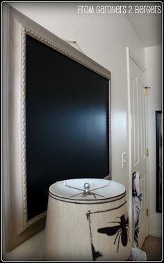 from GARDNERS 2 BERGERS: ✥ 3 Chalkboard Projects {and DIY Chalkboard Paint too} ✥
