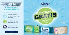 Provami #Gratis #Kleenex: spendi e riprendi 5 euro #cashback