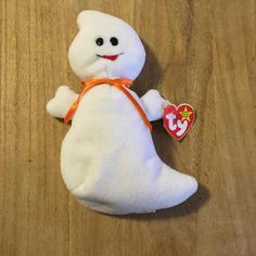 Rare Spooky Beanie Baby, excellent condition, has been in plastic ever since it was new. Tag in perfect condition. Halloween Favors, Halloween Fun, Stuffed Animals, Dinosaur Stuffed Animal, Rare Beanie Babies, Ty Babies, Ty Beanie Boos, Plushies, Fill