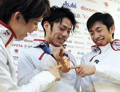 <3<3<3 Daisuke Takahashi , Nobunari Oda & Takahiko Kozuka by olympic2010_1, via Flickr