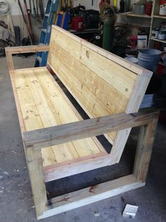 Rough version of our outside bench