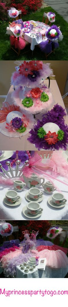Tutu Sweet Tea Party from My Princess Party to Go.   #tutu #tea party #princessparty
