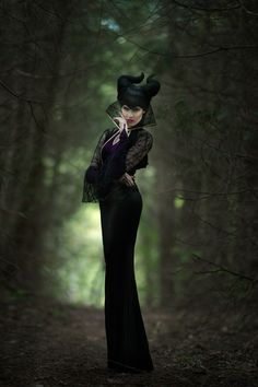 Another beautiful shot from the Maleficent Photoshoot created by Rhokin Studio with makeup and hair by the BlushPretty team. Photo by William Ye! www.blushpretty.com