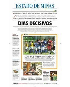 Confira a capa da edição impressa do Estado de Minas desta segunda 28 de março. Leia mais: www.em.com.br by emimagem