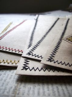 WhiMSy love: Quick-Sew Envelopes  Sarah - an envelope in a hurry, when you can't find one